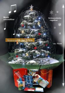 Weihnachtsbaum mit Schneefall Schnee Licht Musik 75 cm, grün
