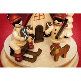 Spieluhr und Räucherhaus, Holz spielende Kinder, H 170