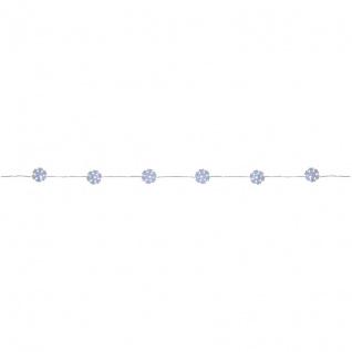 LED-Minilichterkette klare Schneeflocken mit 20 weißen LEDs batteriebetrieben