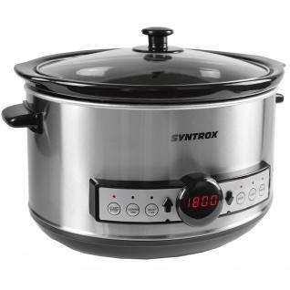 Syntrox Germany Digitaler Slow Cooker 4, 5 Liter mit Timer - Vorschau 2