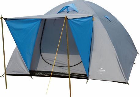 Doppeldach-Kuppelzelt Zelt Camping IGLU 3, für 4 Personen, 240 x 210 cm