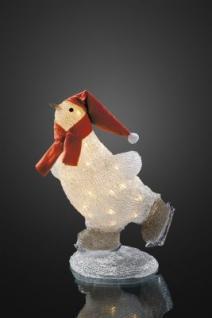 Hellum LED-Pinguin m. Schal + Mütze 40 BS warmweiß außen