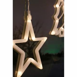 Fensterbild, 8 warmweiße LEDs, weißer Stern