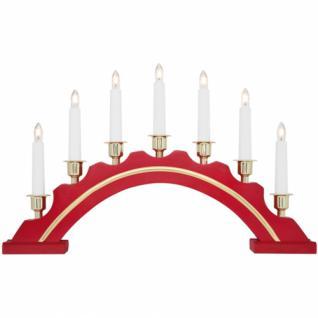 Weihnachtsleuchter, Schwibbogen, rot, 7 x E10/34V/3W