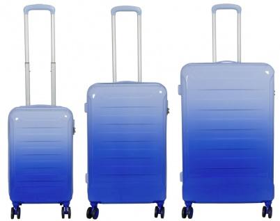 Kofferset 3 tlg. Trolleyset Reisekoffer Hartschale Lugano blau
