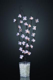 Hellum LED-Dekozweig schwarz mit Blüten