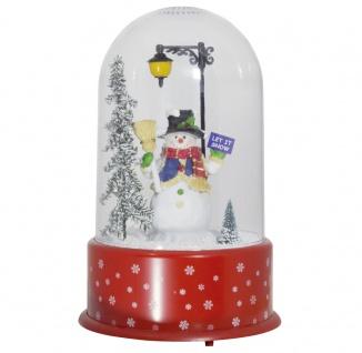 Christmas Paradise Schneiende LED Kuppel 35 cm Motiv Schneemann INNEN