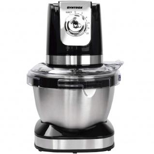 Syntrox Germany Küchenmaschine Knetmaschine Edelstahl-Behälter, 4 Liter, schwarz - Vorschau 3