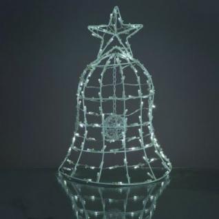 Solar-LED-Weihnachtsglocke 130 BS weiß außen