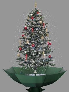 Weihnachtsbaum mit Schneefall Schnee LED Licht Musik 2 m GRÜN - Vorschau 3