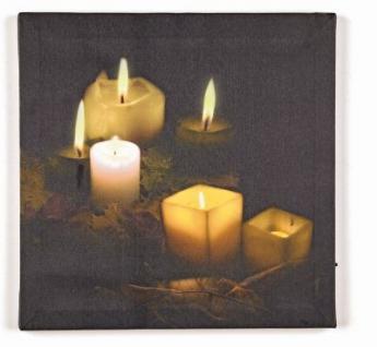 LED-Bild quadratisch 6 Kerzen 6 BS warmweiß innen