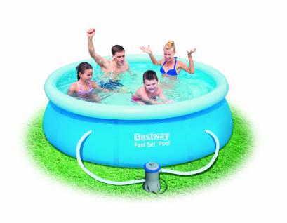 Bestway Fast Set Pool Set mit Filterpumpe 244 x 66 cm
