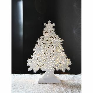 Weihnachtsleuchter, 8 warmweiße LEDs, SNOWFLAKE TREE