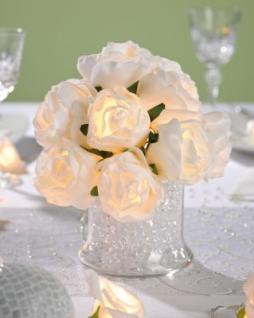 LED-Rosenbouquet weiß/warmweiß