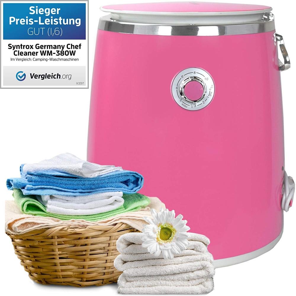Syntrox 3, 0 Kg Waschmaschine mit Schleuder und Timer Pink/Lila - yatego.com