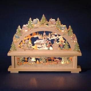 Leuchter Holz Jonas natur/bunt 10 BS