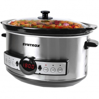Syntrox Syntrox Germany Digitaler Slow Cooker 3, 5 Liter mit Timer