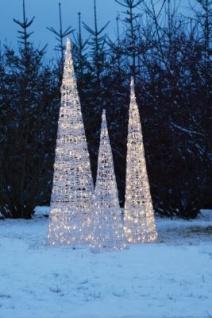 Hellum LED-Acryl-Pyramide 90cm 90 BS warmweiss aussen