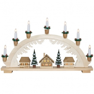 Weihnachtsleuchter Winterdorf, 10 x E10/24V/3W,