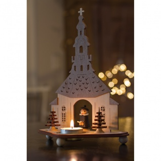 Saico Teelichthalter Seiffener Kirche Holz - Vorschau 2