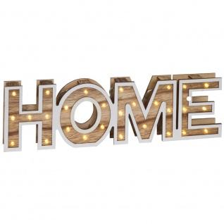 Dekobuchstaben, 25 warmweiße LEDs, Schriftzug HOME