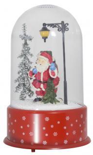 Schneiende LED Kuppel 35 cm Motiv SANTA, für INNEN