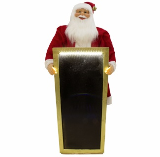 Weihnachtsmann Santaclaus Nikolaus Wotan mit LED Tafel, 120 cm