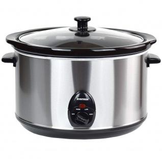 Syntrox 5, 6 Liter Edelstahl Slow Cooker mit Warmhaltefunktion