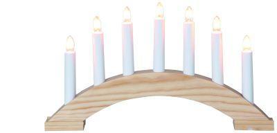 STAR Trading Leuchter Holz Bea (Bogen) natur 7 BS