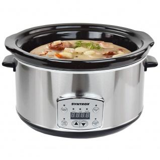 Syntrox Digitaler Slow Cooker 4, 5 Liter mit Timer