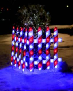 LED-Aussenmotiv festlicher Zaun, 1 Element