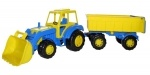Harzland Traktor mit Schaufel und Anhänger