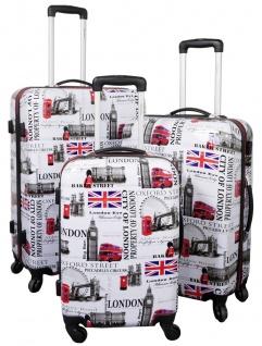 Kofferset 3 tlg. Trolleyset Reisekoffer Hartschale LONDON I
