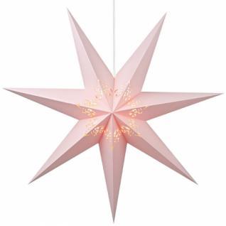 Weihnachtsstern, mattes Papier pastell rosa