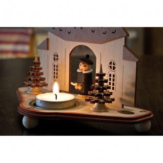 Teelichthalter, Seiffener Kirche Holz - Vorschau 3
