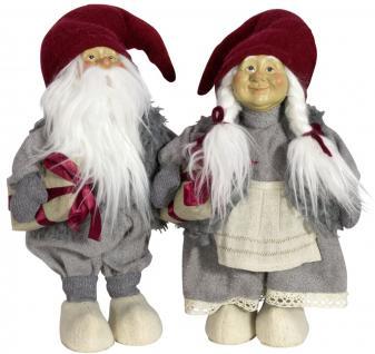 2 x Wichtel 35 cm, Wichtelpaar, Weihnachtswichtel, Weihnachtsfiguren