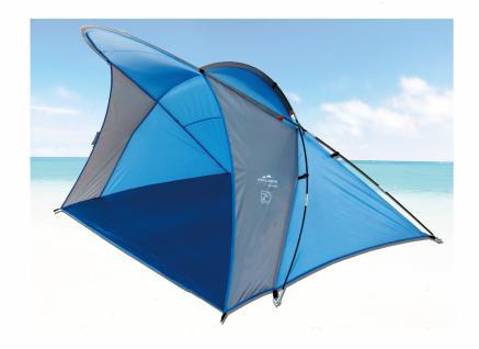 Sonnenzelt Strandmuschel WAVE aus Polyester UPF 80+, 200 x 150 x 130 cm