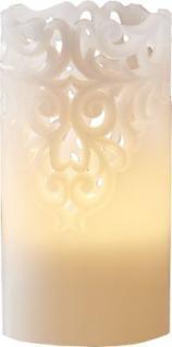 STAR Trading LED-Wachskerze Clary filigran 15cm innen Box