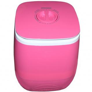Syntrox 2, 0 Kg Waschmaschine Miniwaschmaschine mit Timer und Schleuder 150 W pink - Vorschau 3