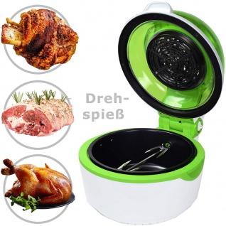Syntrox Turbo-Heißluftfritteuse Heißluftgarer Airfryer Küchenmaschine mit LED-Display grün - Vorschau 5