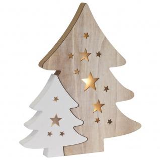 Weihnachtsleuchter Tannenbaum, warmweiße LEDs, batteriebetrieben