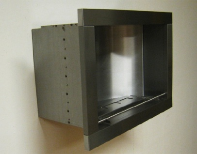 Brennergehäuse, Brennersystem für Bioethanol-Wandkamin Edelstahl