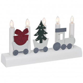Weihnachtsleuchter JULIA, 5 x E10/55V/3W,