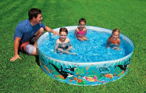 Pool Fixpool Planschbecken Snap-Set OCEAN REEF Swimmingpool 183 cm