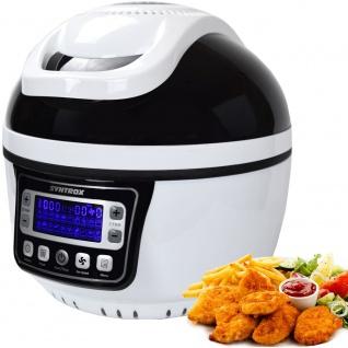 """Syntrox Turbo-Heißluftfritteuse Heißluftgarer Airfryer Küchenmaschine mit LED-Display """" schwarz"""""""