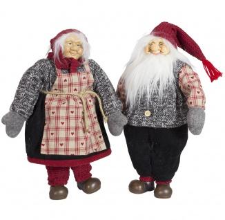 2 x Wichtel, Weihnachtswichtel 40 cm, Weihnachtsfigur