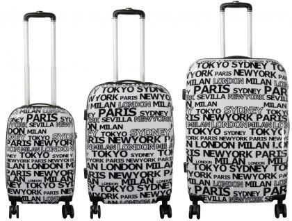 Kofferset 3tlg Reisekoffer Polycarbonat Hartschale City II weiß
