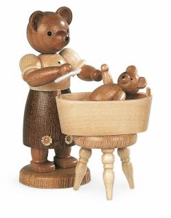 Müller-Kleinkunst aus dem Erzgebirge® seit 1899 Bärenmutter mit badendem Kind
