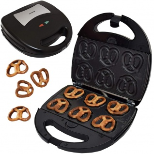 Syntrox Minisoftpretzel Mini Brezel Maker Chefmaker mit austauschbaren Backplatten SM-1300 Watt