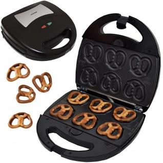 Syntrox Minisoftpretzel Mini Brezel Maker Chefmaker mit austauschbaren Backplatten SM